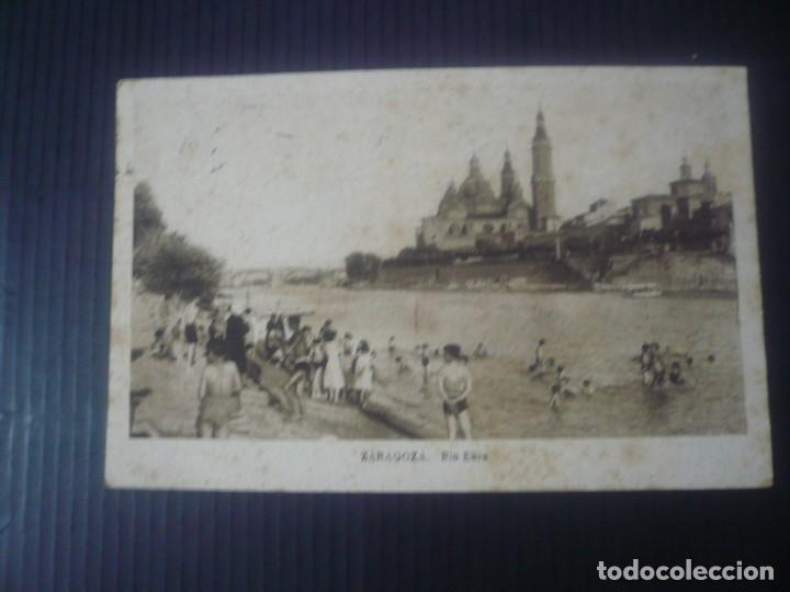 ZARAGOZA-RÍO EBRO (Postales - España - Aragón Antigua (hasta 1939))