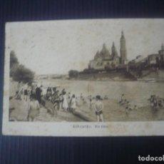 Postales: ZARAGOZA-RÍO EBRO. Lote 194173496