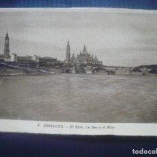 Postales: ZARAGOZA-EL EBRO, LA SEO Y EL PILAR.. Lote 194263648