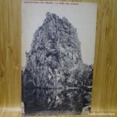 Postales: POSTAL DEL MONASTERIO DE PIEDRA.LA PEÑA DEL DIABLO.M.RAMOS Y COBOS.. Lote 194292415