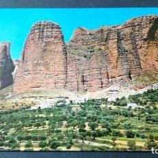 Postales: 1 RIGLOS VISTA GENERAL MALLOS/ PIRINEO ARAGONES HUESCA A-15. Lote 194308176