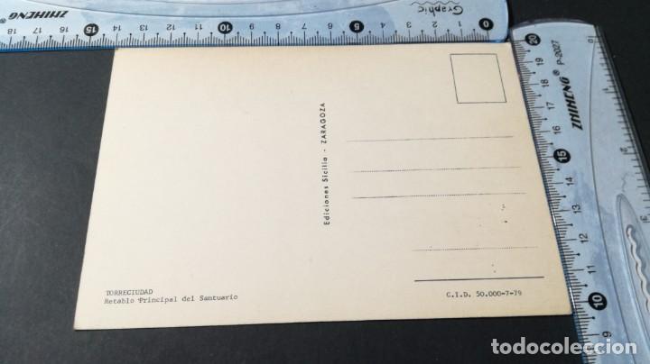Postales: TORRECIUDAD RETABLO PRINCIPAL SANTUARIO/ ARAGON A23 - Foto 3 - 194355236