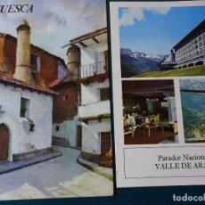 Postales: TRÍPTICO PUBLICITARIO DE SEGOVIA + PARADOR NACIONAL VALLE DE ARÁN. AÑO 1974. PUBLICIDAD MEDICINA. Lote 194405291