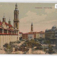 Postales: ZARAGOZA - PLAZA DEL PILAR - P27136. Lote 194406796