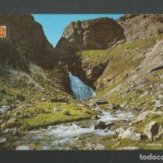 Postales: POSTAL SIN CIRCULAR - PARQUE NACIONAL DE ORDESA 45 HUESCA - CASCADA COLA DE CABALLO - ED ESCUDO ORO. Lote 194522708