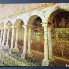 Postales: 10 ALQUEZAR HUESCA CLAUSTRO YPINTURAS MURALES/ ARAGON A30. Lote 194543510