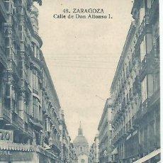 Postales: ZARAGOZA.CALLE DE ALFONSO I.POSTAL MUY ANTIGUA. Lote 194549778