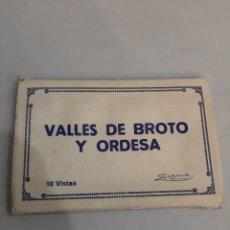 Postales: HUESCA ARAGON VALLES DE BROTO Y ORDESA 10 VISTAS ZERKOWITZ. Lote 194552712