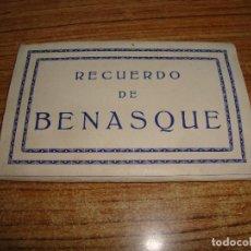 Postales: ACORDEON DE 10 POSTALES RECUERDO DE BENASQUE NO INDICA FOTOGRAFO. Lote 194609321