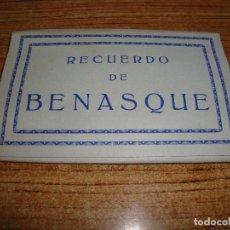 Postales: ACORDEON DE 10 POSTALES RECUERDO DE BENASQUE NO INDICA FOTOGRAFO. Lote 194609381