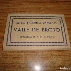 Postales: ACORDEON DE 8 POSTALES ALTO PIRINEO ARAGON VALLE DE BROTO EDICIONES H. A. P. A. BROTO. Lote 194610028