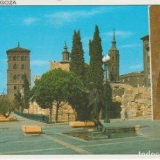 Postales: (24) ZARAGOZA. MURALLAS ROMANAS. TORRES DE AZUA Y SAN JUAN DE LOS PANETES. Lote 194624135