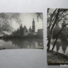 Postales: LOTE POSTALES ZARAGOZA-TEMPLO PILAR --ESCRITA Y CIRCULADA¡¡ CM. Lote 194645683