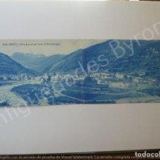 Postales: POSTAL DOBLE. BROTO. VISTA GENERAL. AL FONDO EL MONDARUEGO. HUESCA. ARRIBAS Nº 39-40. Lote 194721756