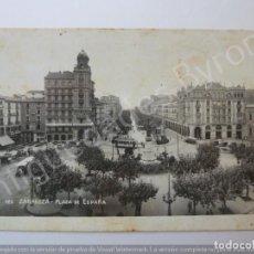 Postales: POSTAL ANTIGUA. ZARAGOZA. PLAZA DE ESPAÑA. ARRIBAS Nº 125. Lote 194724338