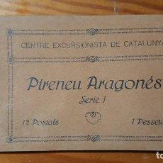 Postales: CENTRE EXCURSIONISTA DE CATALUNYA. PIRENEU ARAGONÉS SERIE 1. 12 POSTALES(COMPLETA). . Lote 194732088