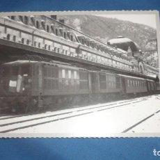 Postales: POSTAL HERALDO DE ARAGÓN REPRODICIÓN LINEA INTERNACIONAL CANFRANC (HUESCA) AÑO 1948. Lote 194778316