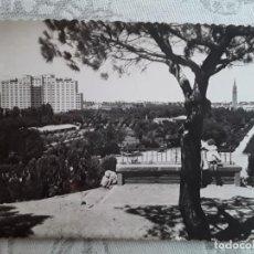 Postales: ZARAGOZA, PARQUE PRIMO RIVERA, AÑOS 50, USADA, ED GARCIA GARRABELLA. Lote 194876482