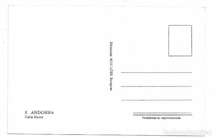 Postales: ANDORRA Nº 3 CALLE MAYOR .- EDICIONES MONTAÑES - Foto 2 - 194896362