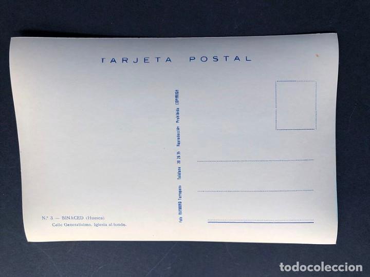 Postales: POSTAL BINACED / CALLE GENERALISIMO / COLOREADA / RAYMOND Nº 3- AÑOS 60 / HUESCA / MONZON / BINEFAR - Foto 2 - 195061682