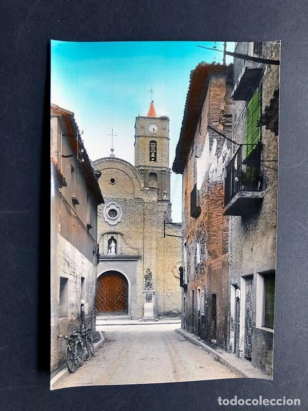 POSTAL BINACED / CALLE GENERALISIMO / COLOREADA / RAYMOND Nº 3- AÑOS 60 / HUESCA / MONZON / BINEFAR (Postales - España - Aragón Moderna (desde 1.940))