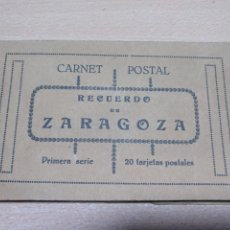 Postales: CARNET POSTAL RECUERDO DE ZARAGOZA. PRIMERA SERIE. Lote 195095508