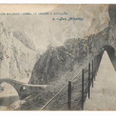Postales: HUESCA - LAS MINETAS - CANAL DE ARAGÓN Y CATALUÑA - P30005. Lote 195154387