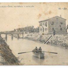 Postales: HUESCA - LA MESA - CANAL DE ARAGÓN Y CATALUÑA - P30005. Lote 195154392