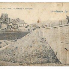 Postales: HUESCA - ESTADA - LA TORRETA - CANAL DE ARAGÓN Y CATALUÑA - P30005. Lote 195154408