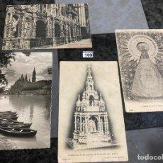 Postales: LOTE DE 4 POSTALES DE ZARAGOZA . Lote 195165640