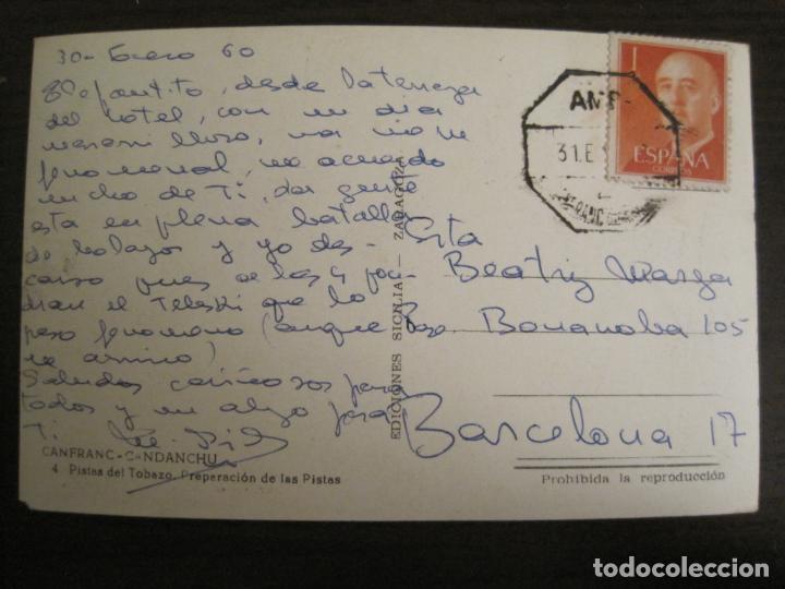 Postales: CANFRANC-CANDANCHU-PISTAS DEL TOBAZO-ED·SICILIA-4-POSTAL ANTIGUA-(68.137) - Foto 3 - 195227000