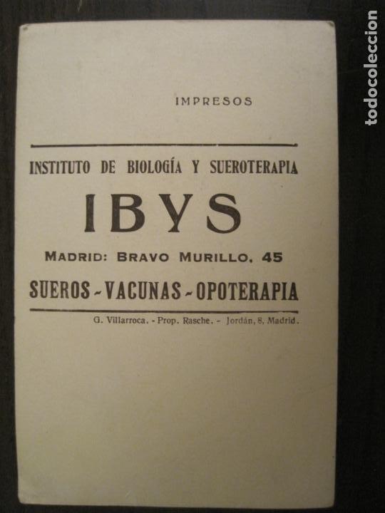Postales: ZARAGOZA-FACULTAD DE MEDICINA-PUBLICIDAD INSTITUTO BIOLOGIA IBYS-POSTAL ANTIGUA-(68.142) - Foto 5 - 195227591