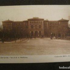 Postales: ZARAGOZA-FACULTAD DE MEDICINA-PUBLICIDAD INSTITUTO BIOLOGIA IBYS-POSTAL ANTIGUA-(68.142). Lote 195227591