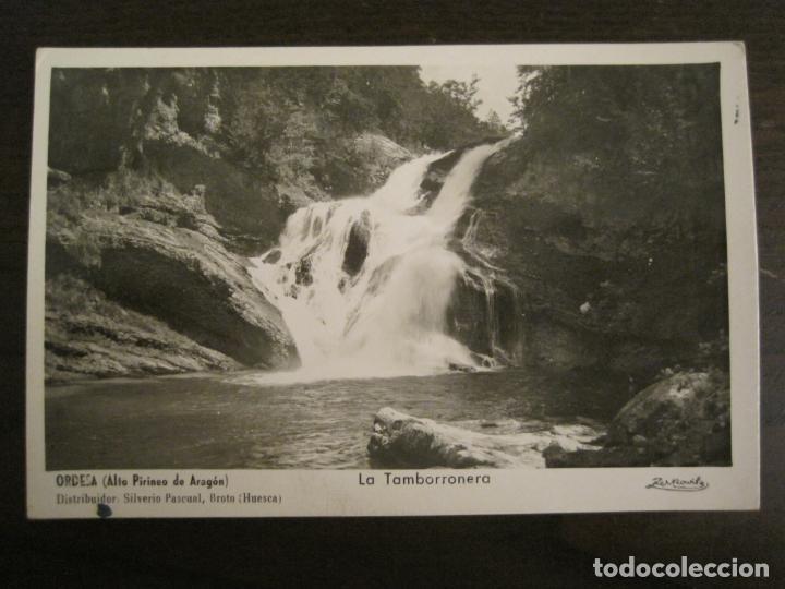 ORDESA-LA TAMBORRONERA-FOTOGRAFICA ZERKOWITZ-POSTAL ANTIGUA-(68.144) (Postales - España - Aragón Antigua (hasta 1939))
