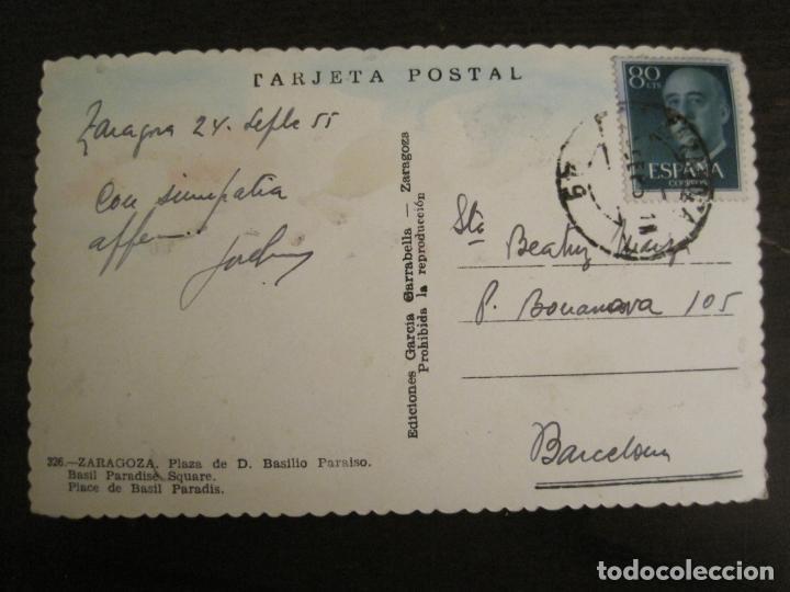 Postales: ZARAGOZA-PLAZA DE D.BASILIO PARAISO-GARCIA GARRABELLA-326-POSTAL ANTIGUA-(68.145) - Foto 3 - 195228075