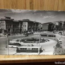 Postales: POSTAL DE LA PLAZA DE BASILIO PARAÍSO DE ZARAGOZA.1953.. Lote 195240415