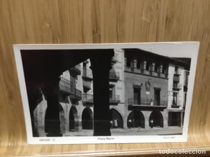 POSTAL DE GRAUS.EDICION SISO.PLAZA MAYOR.11. (Postales - España - Aragón Antigua (hasta 1939))