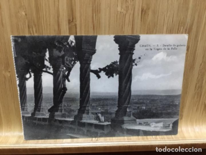 POSTAL DE GRAUS.J. AGUILAR.VIRGEN DE LA PEÑA. (Postales - España - Aragón Antigua (hasta 1939))