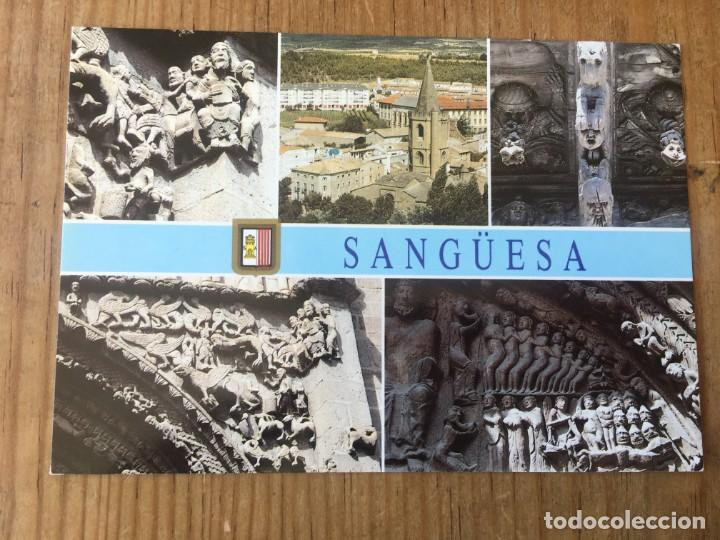 R8186 ANTIGUA POSTAL SANGÜESA # 6 IGLESIA SANTA MARIA EDICION DE LUJO SIN CIRCULAR (Postales - España - Aragón Moderna (desde 1.940))