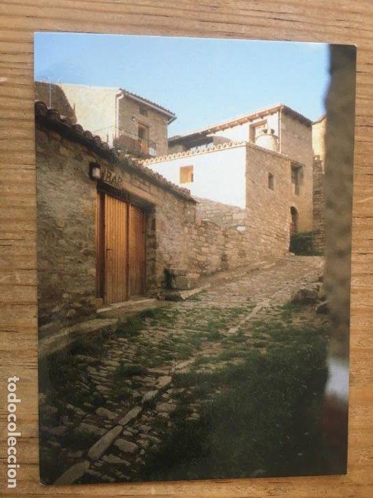 R8187 ANTIGUA POSTAL CALLE DEL PUEBLO DE RUESTA ZARAGOZA SIN CIRCULAR (Postales - España - Aragón Moderna (desde 1.940))