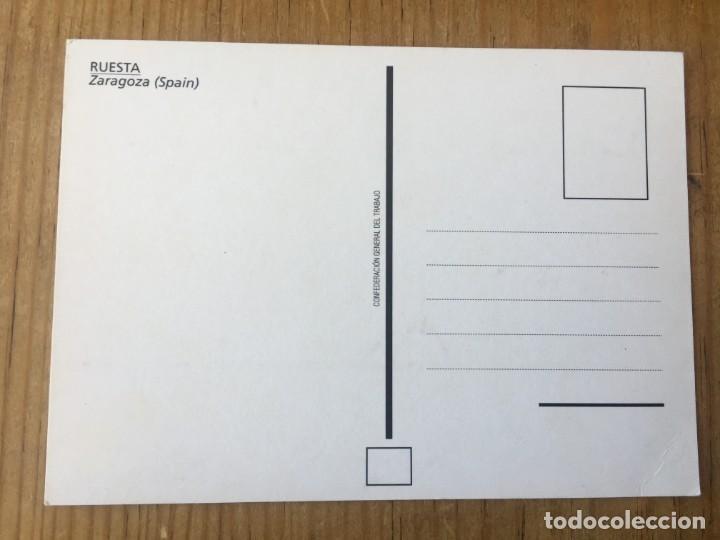 Postales: R8187 ANTIGUA POSTAL CALLE DEL PUEBLO DE RUESTA ZARAGOZA SIN CIRCULAR - Foto 2 - 195318577