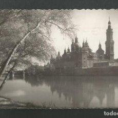 Postales: POSTAL CIRCULADA - ZARAGOZA 66 - BASILICA DEL PILAR - EDITA GARCIA GARRABELLA. Lote 195408887