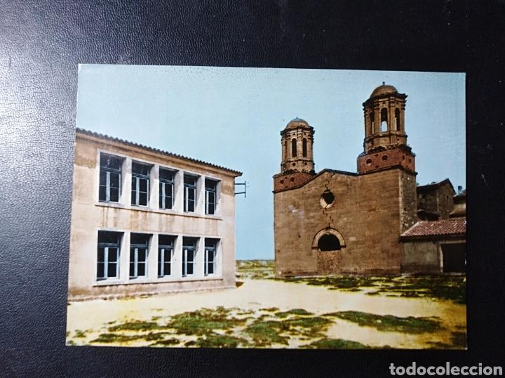 ESCATRON, ZARAGOZA, ARAGON, GRUPO ESCOLAR Y SAN JAVIER. (Postales - España - Aragón Moderna (desde 1.940))