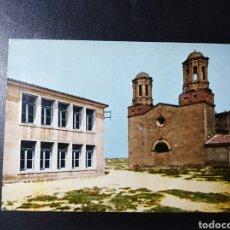 Postales: ESCATRON, ZARAGOZA, ARAGON, GRUPO ESCOLAR Y SAN JAVIER.. Lote 195492110