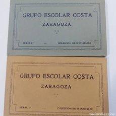 Postales: ZARAGOZA, ARAGON, GRUPO ESCOLAR COSTA, COLECCION COMPLETA DE 36 POSTALES ANTIGUAS DE PUBLICIDAD.. Lote 195975840