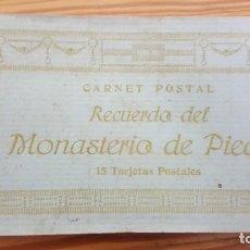 Postales: CARNET POSTAL RECUERDO DEL MONASTERIO DE PIEDRA. 15 TARJETAS POSTALES (COMPLETO). Lote 196981568