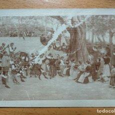 Postales: BORJA, ZARAGOZA.SANTUARIO BAILANDO LA JOTA..CIRCULADA 1906.. Lote 196983196