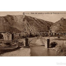 Postales: PERARRUA.(HUESCA).- CATALANA DE GAS Y ELECTRICIDAD S.A. VISTA DEL PUERNTE Y PUEBLO DE PERARRUA.. Lote 197527230