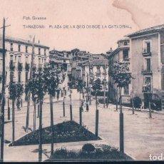 Postales: POSTAL TARAZONA - PLAZA DE LA SEO DESDE LA CATEDRAL - HAUSER Y MENET - CIRCULADA. Lote 198230358