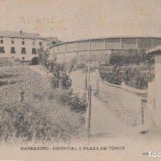 Postales: BARBASTRO.HUESCA.HOSPITAL Y PLAZA DE TOROS. LUCAS ESCOLA. Lote 198458107